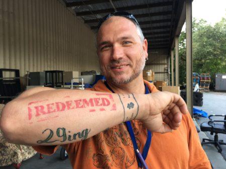 Bradley Nivens, Redeemed tattoo