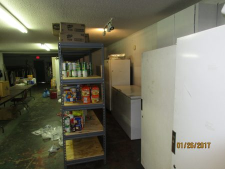 Multiple freezers currently being used to store food donations