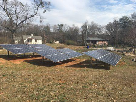 solar panels at Renewal Center