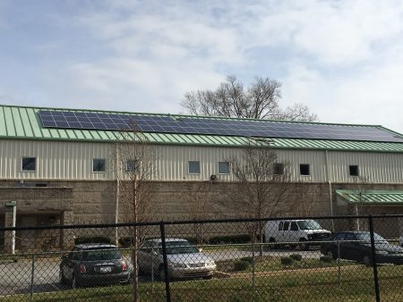 solar panels on roof at Miracle Hill's Greenville Rescue Mission